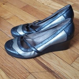 Black & Silver Wedges Size 9 BC Footwear